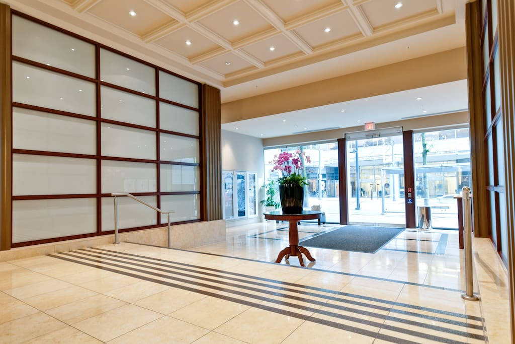 Beautiful lobby at the Hudson, with 24 hour concierge!
