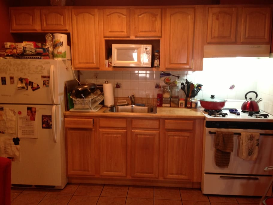 Full kitchen, with all the amenities.