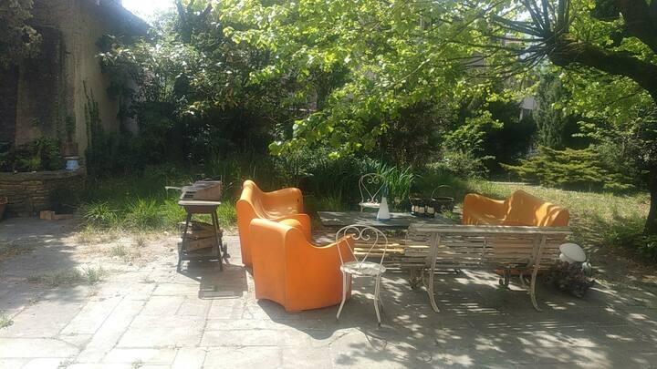 Chambre sur terrasse et jardin, 1er