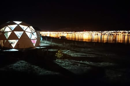 Calafate Domos/Lovely Dome overlooking the Lake.
