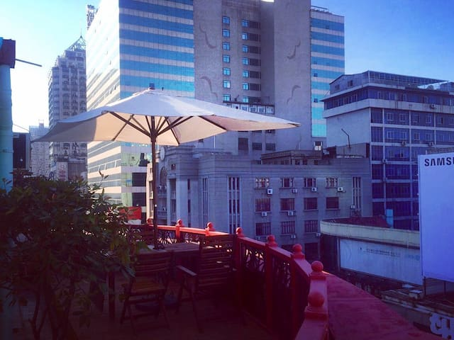 Rooftop Patio of Jianghan Road - 武汉市 - Wohnung