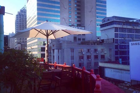 Rooftop Patio of Jianghan Road - 武汉市 - Apartment