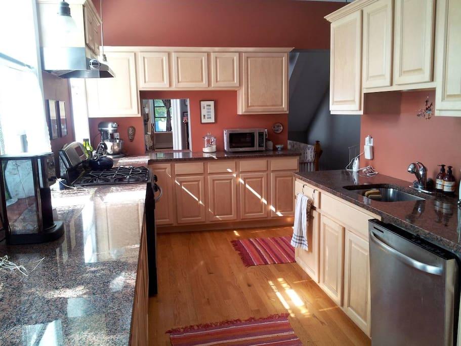 Kitchen. Fully stocked.