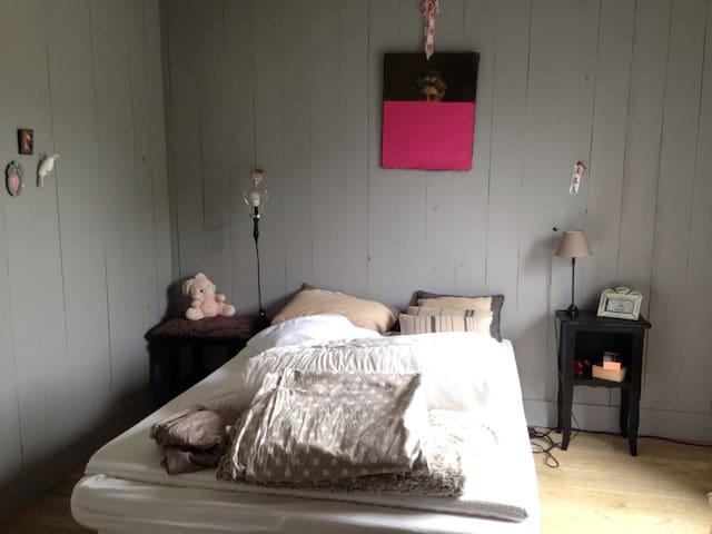 Chambre cosy au bord de l'eau - Cantenay-Épinard
