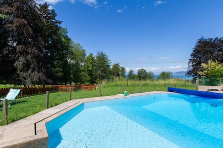 Two level Villa - Swimming pool- 8 min to MONTREUX - 维尔纳夫(Villeneuve) - 公寓
