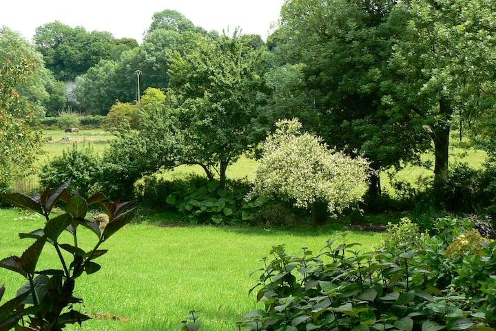 Norman house garden countryside sea