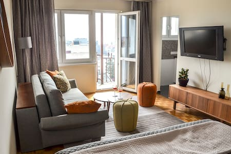 Panorama Apartment with old town view free parking - Toruń - 公寓