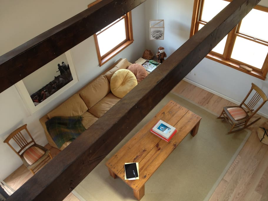 the living room from above