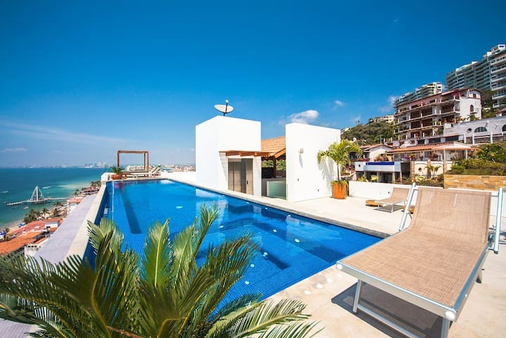 100FT Muertos Beach/ New/Pool - Puerto Vallarta - Apartament