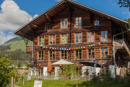 Swiss organic Farm Chalet Ecolodge (Private Bath)