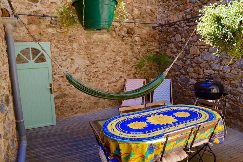 Siesta in the hammock on the terrace