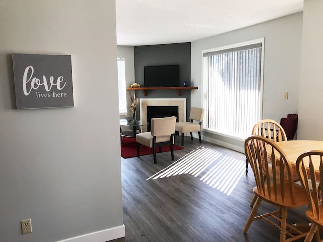 Modern two bedroom walk to downtown with parking