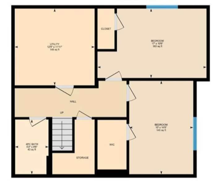 Basement Suite, Shared Entrance