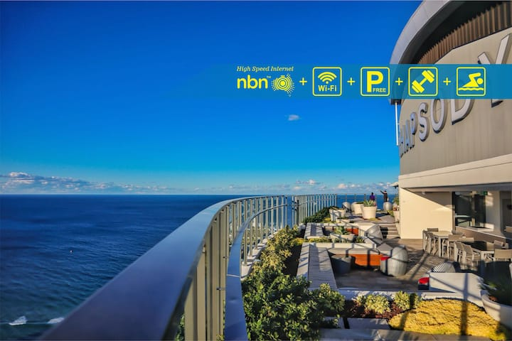 Sensational Ocean+Beach View Apartment GCRDW0P4