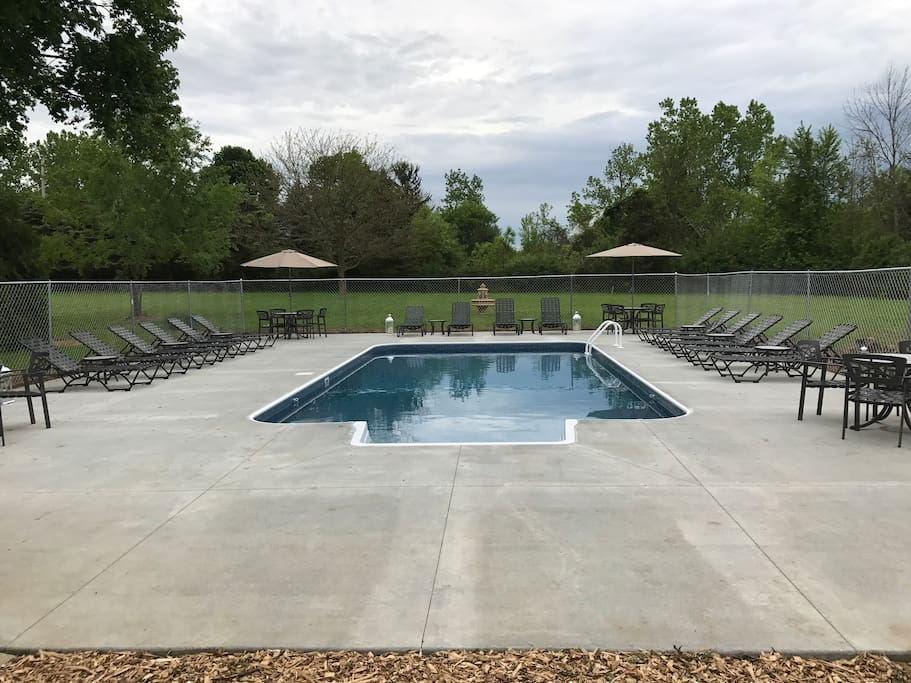 Large Pool Area with Meadow