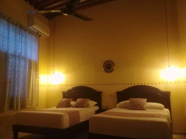 Dormitorio 2 camas dobles