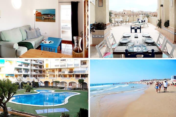 Exclusive penthouse / Rooftop / Pool / 300m beach - La Mata - Apartment