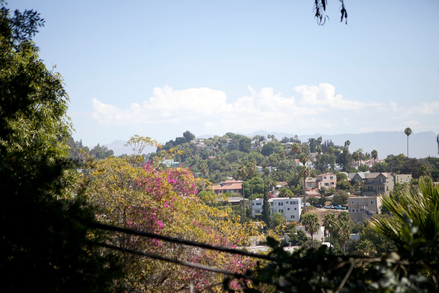 view of Silverlake hills