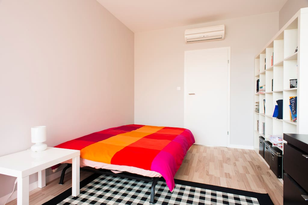 Room for rent with double sofa bed open