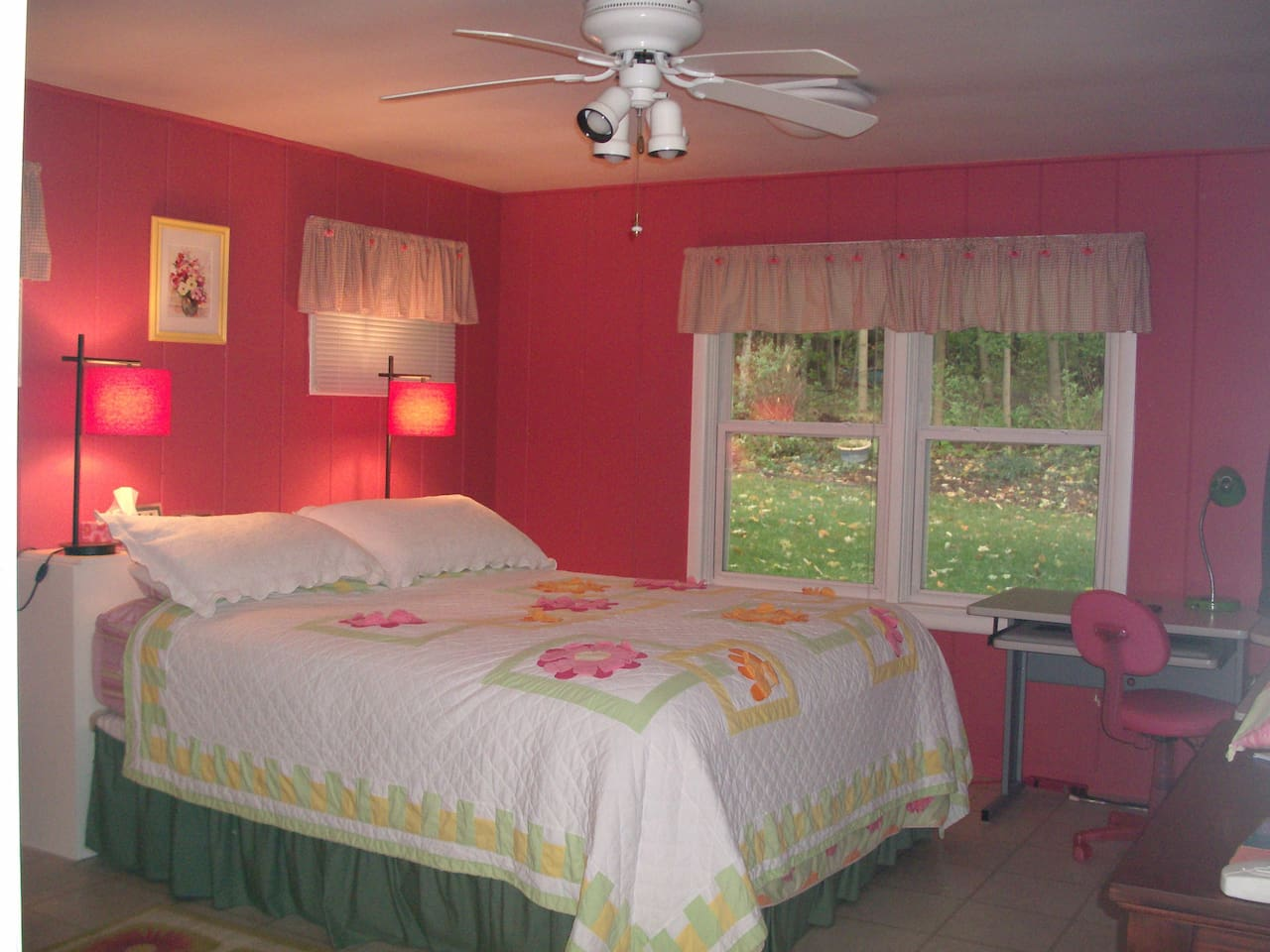 cheery large private bedroom