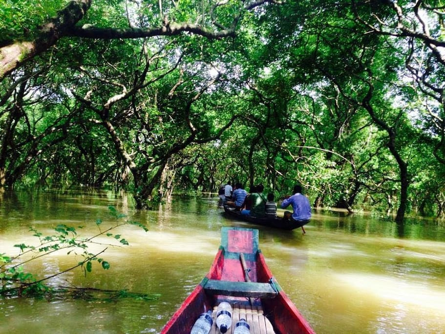 Within 2 km from Ratargul Swamp Forest