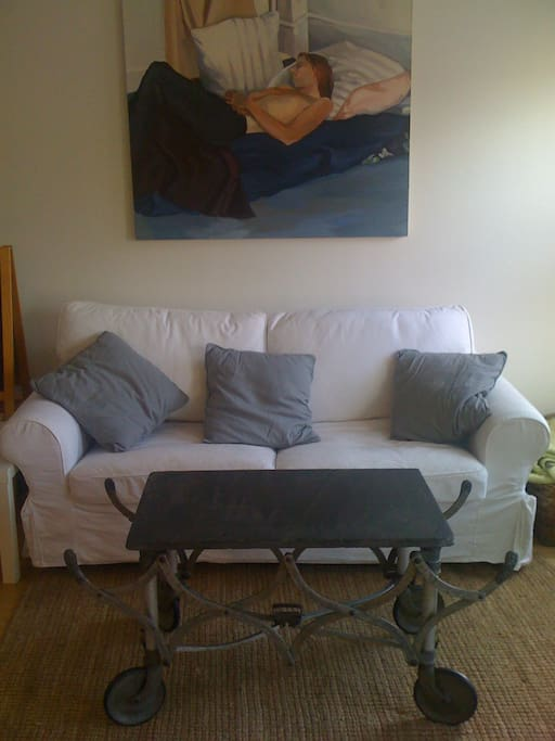Living Room, Sofa opens to Full Size Bed