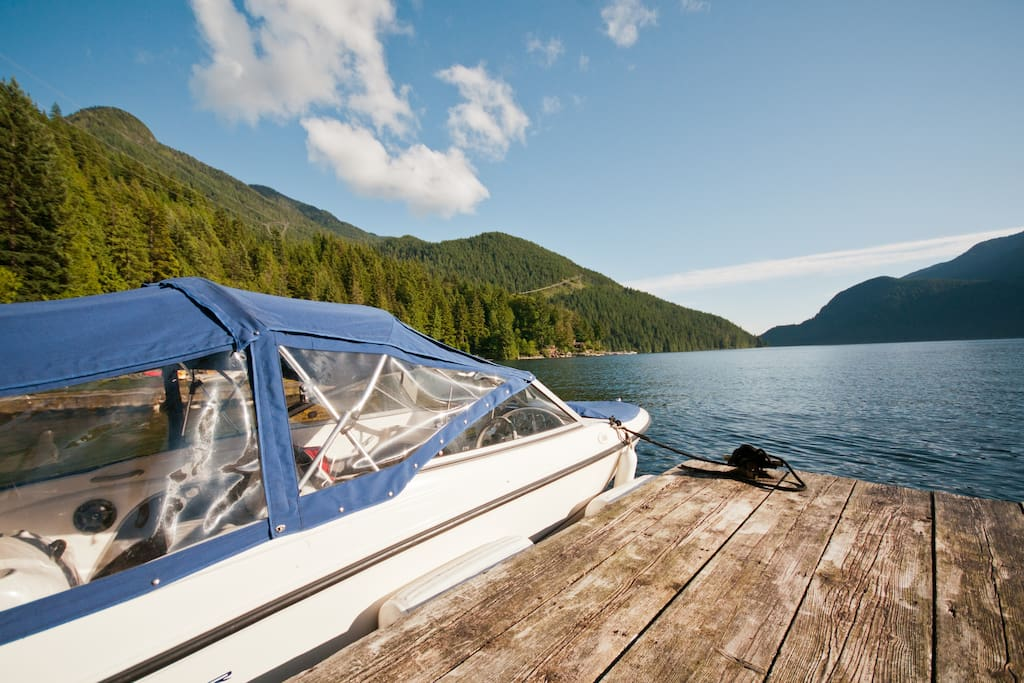 Our Bayliner 175. Your transportation to and from the cottage.