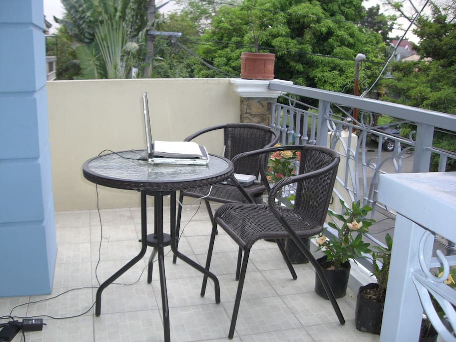 Private balcony good for relaxing or home working