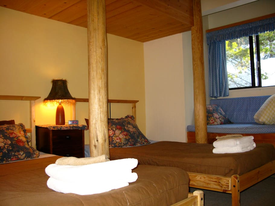 Adult single beds in Blackcomb Room