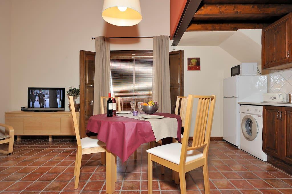 apartment's living room - comedor del apartamento