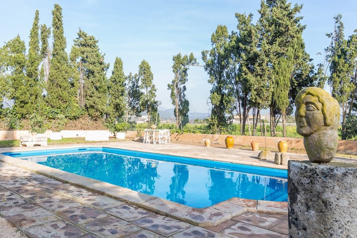 Rural property in sa Pobla with pool and jaccuzi.