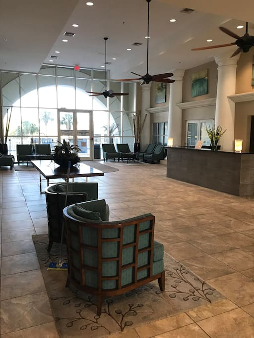 Beautiful lobby in our building