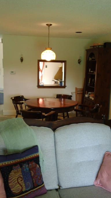 Living and dining area, looking towards kitchen