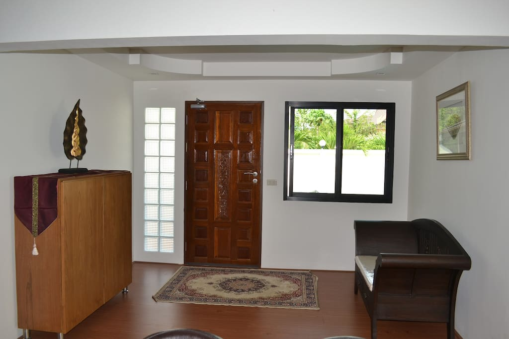 Entry hall from car port