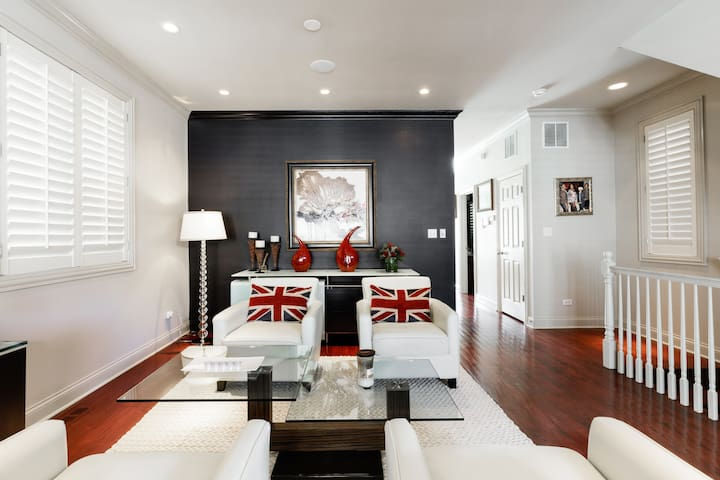 Relax and Unwind in a Room in Designer Bronzeville House