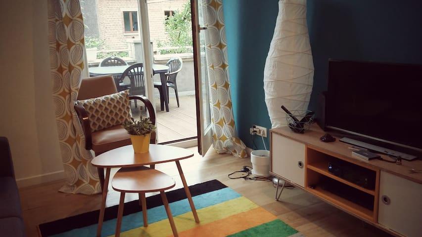 Chambre privée av des combattants - Namur - Apartemen