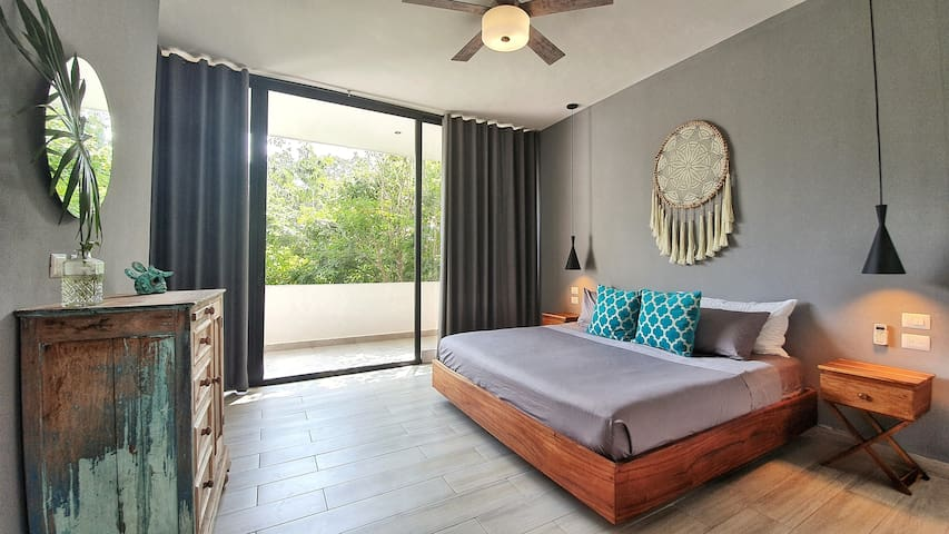 3rd King Size bedroom with garden view balcony