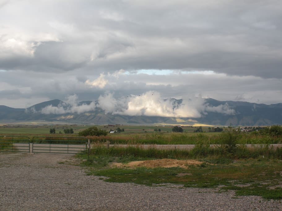 Another view of the Bridger Mountains