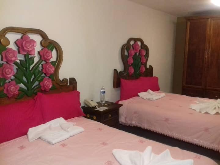 """Bonita y amplia habitación """"rosas"""""""