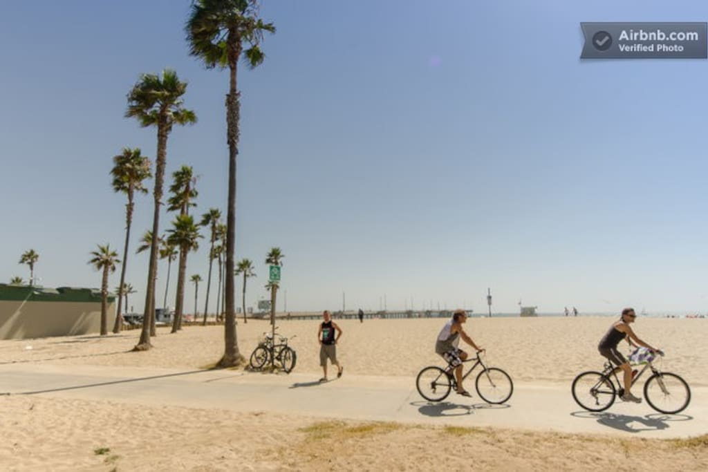 Venice Beach bike path and so close to your stay!