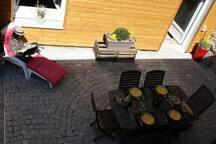 Vue ensemble terrasse