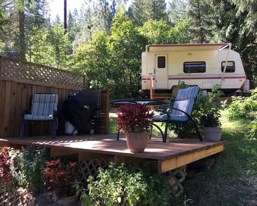 Wilderness camper view from Deck