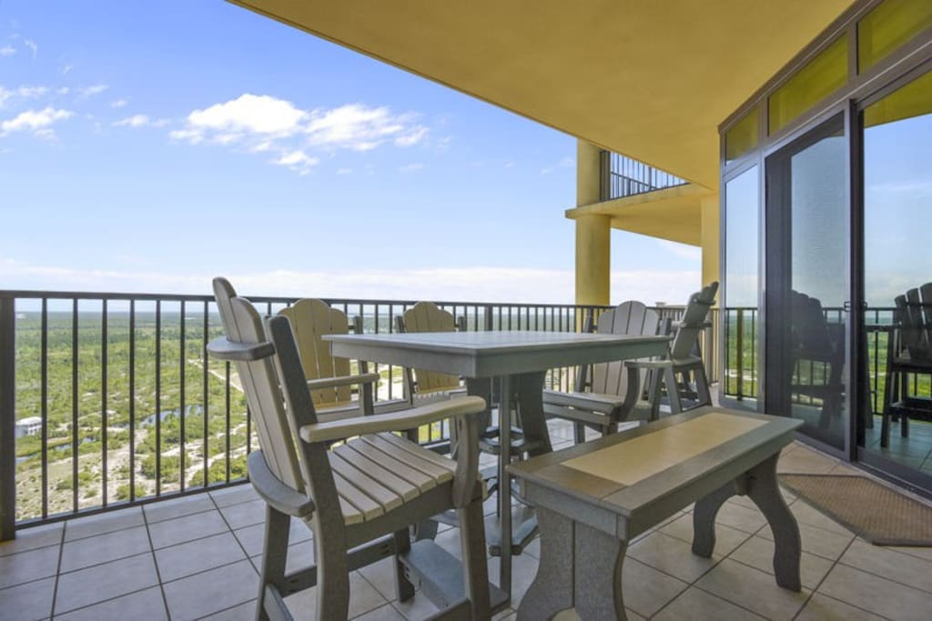 Private Balcony overlooking the Gulf State Park