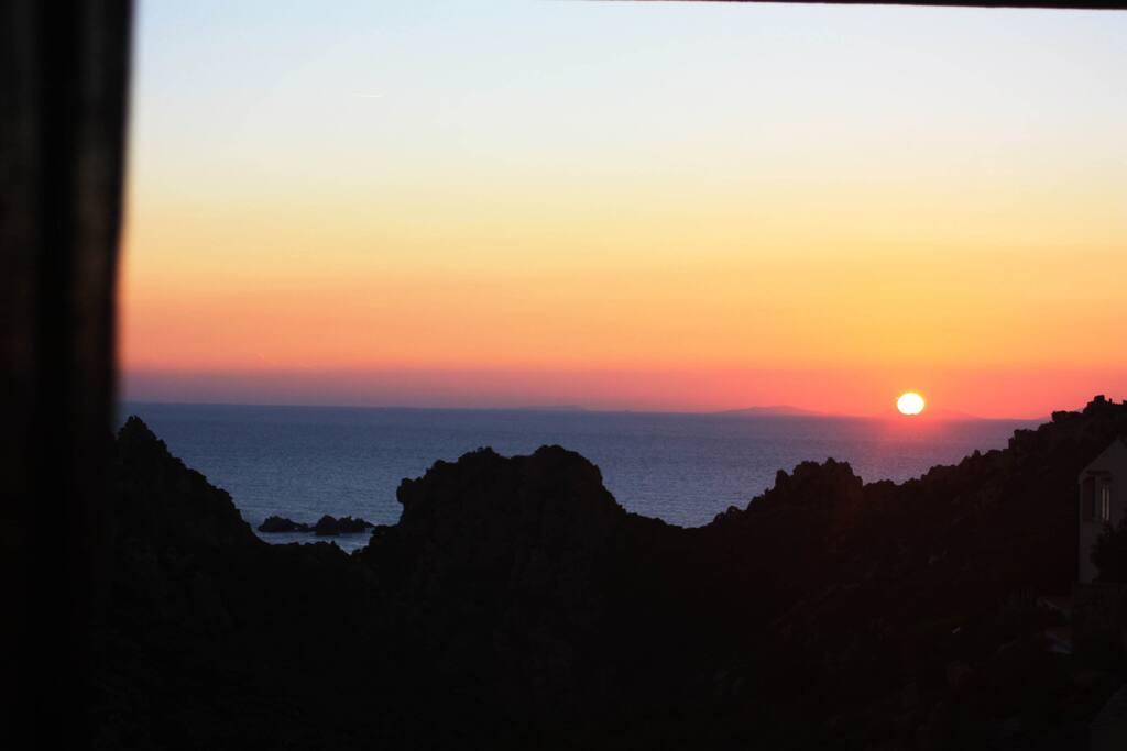 tramonto dalla terrazza zona living