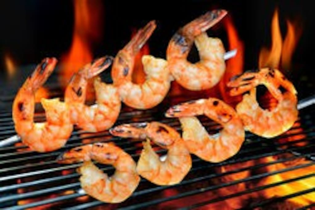 Shrimps on the BBQ