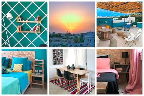 !! Peaceful haven with big rooftop in La Marsa !!