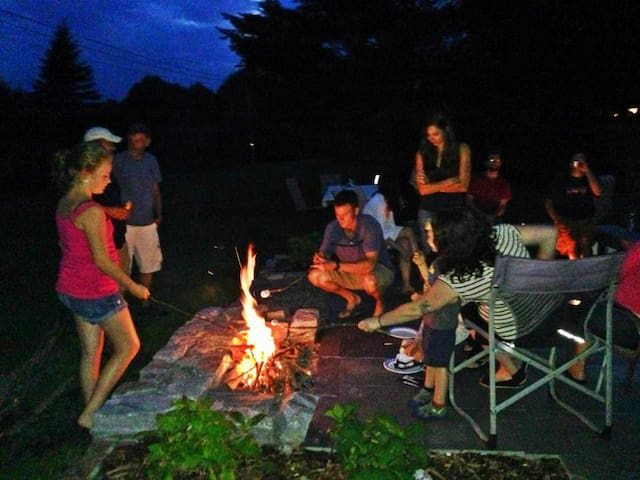 Friends and family making S'mores!