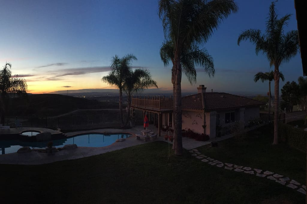 Peaceful evening sunset...