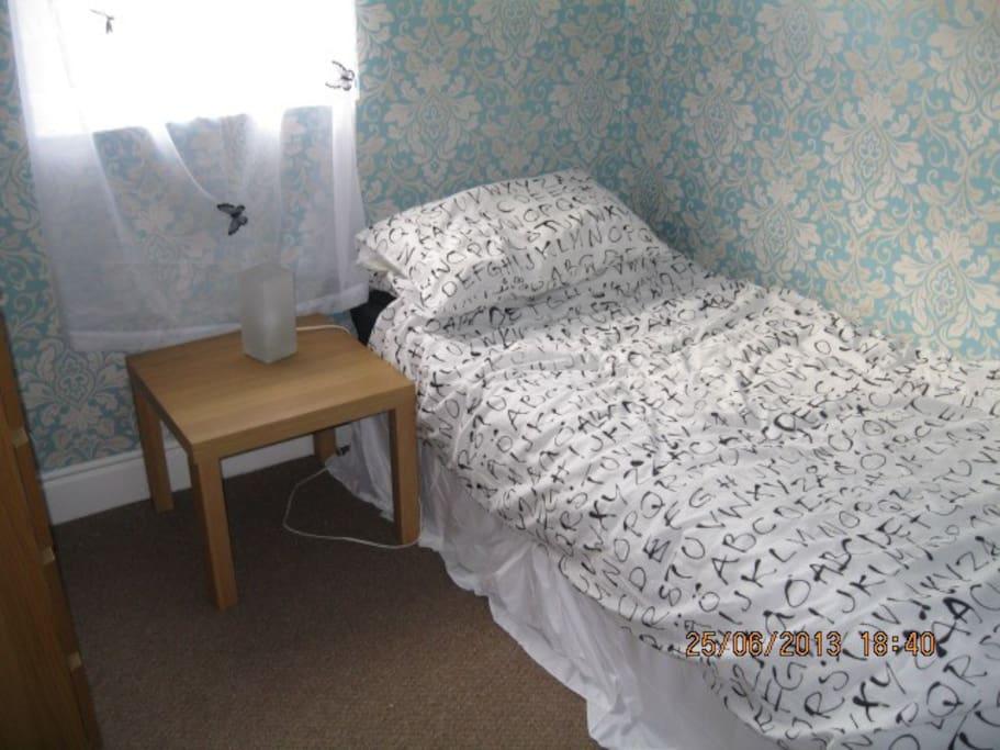 Warm cosy single room