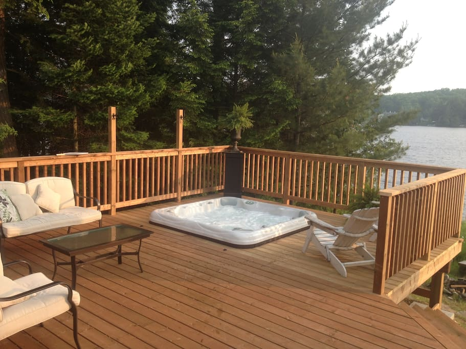 Year round eight person hot tub turns every day into a perfect night